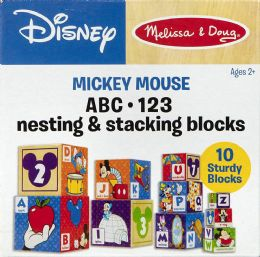 4 Units of Melissa & Doug Mickey Mouse & Friends Nesting & Stacking Blocks Baby Toy - Baby Toys