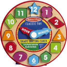 6 Units of Shape Sorting Clock - Baby Toys