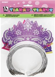 12 Units of Favor 12 Glitter Tiaras - Party Favors