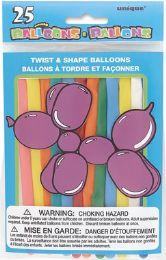 24 Units of Balloon Twisty 25Ct - Balloons & Balloon Holder