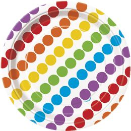 12 Units of Rainbow Bday 7In Plates 8Ct - Disposable Plates & Bowls