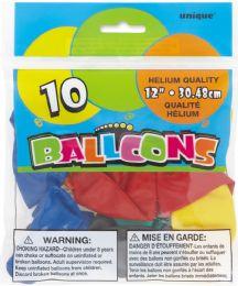 24 Units of Balloons Asst 10 12In - Balloons & Balloon Holder
