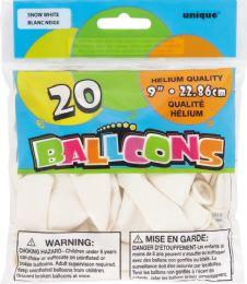 24 Units of Balloon 9In Helium White 20Ct - Balloons & Balloon Holder