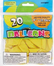 24 Units of Balloon Yellow 9In 20Ct Helium - Balloons & Balloon Holder