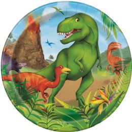 12 Units of Dinosaur 7In Plate 8Ct - Disposable Plates & Bowls