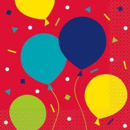 12 Units of Blln Prty Bday Lun Nap 16Ct - Balloons & Balloon Holder