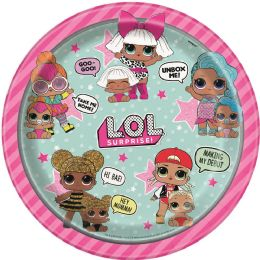 12 Units of Lol Surprise 9In Plate 8Ct - Disposable Plates & Bowls