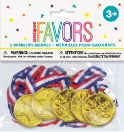 12 Units of 5 Winner Medals Favors - Party Favors