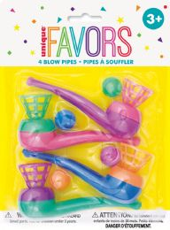 12 Units of 4 Blow Pipes Favors - Party Favors