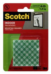 12 Units of Scotch Indoor Mount Ion Squares - Tape & Tape Dispensers