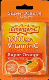 12 Units of Emergen C Orange 2Ct - Pain and Allergy Relief