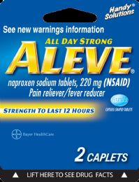 12 Units of Aleve 2Ct Caplet - Pain and Allergy Relief