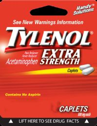 12 Units of Tylenol E/S 2Ct Caplets - Pain and Allergy Relief