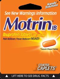 12 Units of Motrin 2Ct Caplets - Pain and Allergy Relief