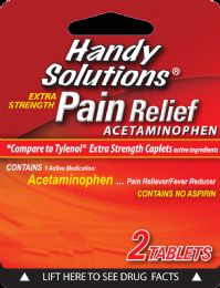 12 Units of Hs Acetaminophen 2Ct 500Mg - Pain and Allergy Relief