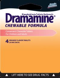12 Units of Dramamine 4Ct Tablets - Pain and Allergy Relief