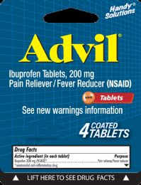 12 Units of Advil 4Ct Tablets - Pain and Allergy Relief