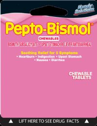 12 Units of Pepto Bismol Chewable Tab 2Ct - Pain and Allergy Relief