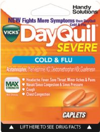 12 Units of Dayquil Severe 2Ct Caplets - Pain and Allergy Relief