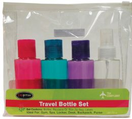 12 Units of Travel Bottle Set 6 pc - Personal Care