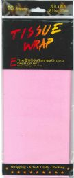 24 Units of Tissue Paper Pink 10 Sheets - Gift Wrap