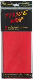 24 Units of Tissue Paper Red 10 Sheets - Gift Wrap