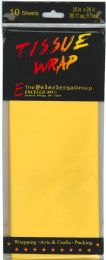24 Units of Tissue Paper Yellow 10 Sheets - Gift Wrap
