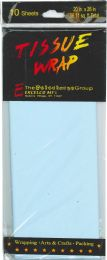 24 Units of Tissue Paper Lt Blue 10 Sheets - Gift Wrap