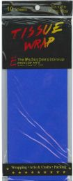 24 Units of Tissue Paper Dk Blue 10 Sheets - Gift Wrap