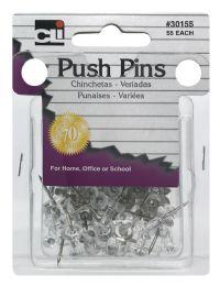 12 Units of Cli Push Pins - Push Pins and Tacks