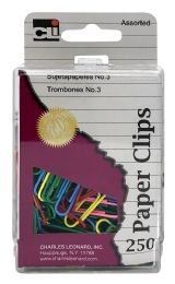 6 Units of Cli 250 Paper Clips Assorted - Paper clips