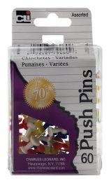 12 Units of Cli Push Pins 60 - Push Pins and Tacks