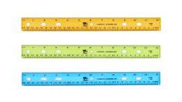 24 Units of Charles Leonard 12 Inch Plastic Ruler, Assorted Colors - Rulers