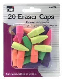 12 Units of Charles Leonard 20 Eraser Caps - Erasers