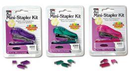 6 Units of Stapler Mini W/Staples Asst - Staples & Staplers