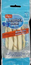 12 Units of Hartz Dentist Best Twist 8pk - Pet Chew Sticks and Rawhide