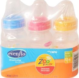 6 Units of Evenflo Zoo Friends Btl 3ct - Baby Accessories