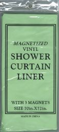 12 Units of Shower Curtain Jm Liner Green - Shower Curtain