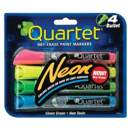 8 Units of Quartet Neon DrY-Erase Markers 4 Count Assorted - Markers and Highlighters