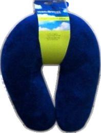 2 Units of Fleece Fiberfill Neck Rest Nvy - Travel & Luggage Items