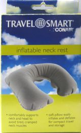 2 Units of Inflatable Neck Rest Grey - Travel & Luggage Items