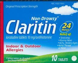 6 Units of Claritin Allrgy 24hr 10mg 10ct - Medical Supply