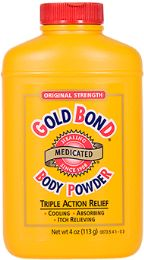 6 Units of Gold Bond Medicat Powder 4Oz - Bath And Body