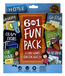 6 Units of Hoyle 6 In 1 Fun Pack Card Games - Card Games