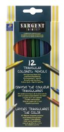 12 Units of Sargent Art 12 Triangular Colored Pencils - Pens & Pencils