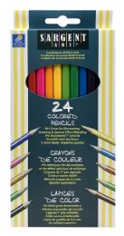 12 Units of Sargent Art Colored Pencils 24 - Pens & Pencils