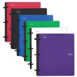 6 Units of Five Star Flex 1 Subject College Ruled Hybrid Notebook Binder, 80 Sheets, Assorted Colors - Binders