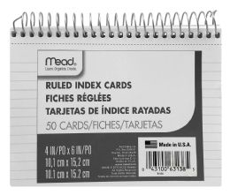 12 Units of Mead Ruled Index Cards - Dividers & Index Cards