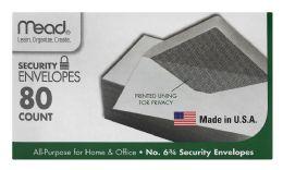 12 Units of Mead #6 3/4 Security Envelopes White #6 3/4 - Envelopes