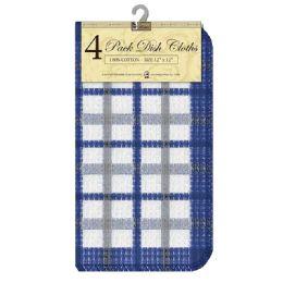 12 Units of Dish Cloths Check 4pk - Kitchen Towels